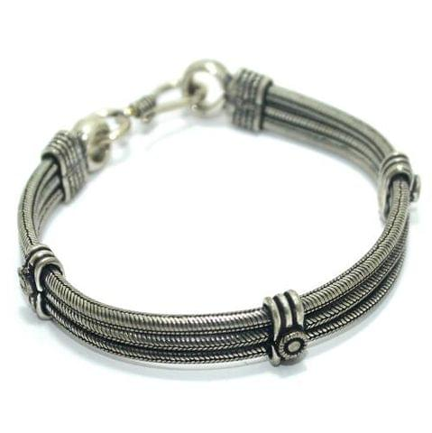 German Silver BraceletWrist Band For Men/ Boys, Size 8 Inch