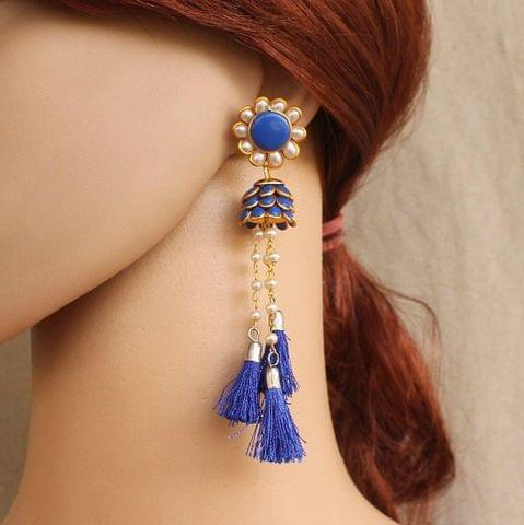Designer Beaded Pacchi Tassel Earring