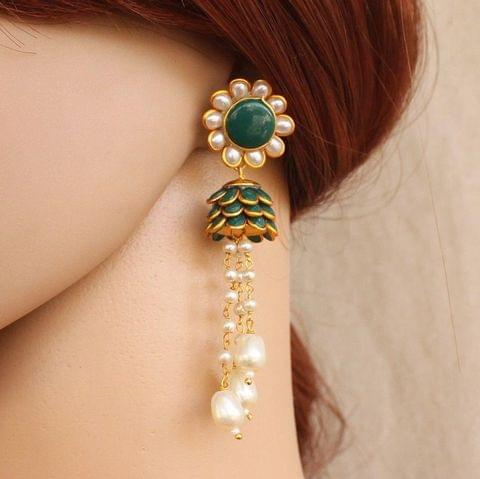 Designer Beaded Pearl Pacchi Earring