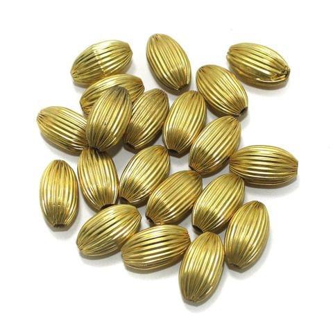 50 Brass Liner Oval Beads Golden 20x12mm