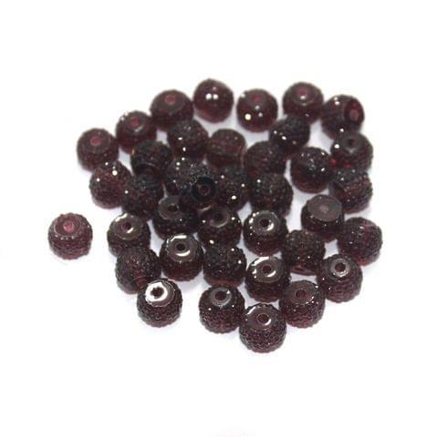 100 Pcs Acrylic Sugar Beads 7x8mm Purple