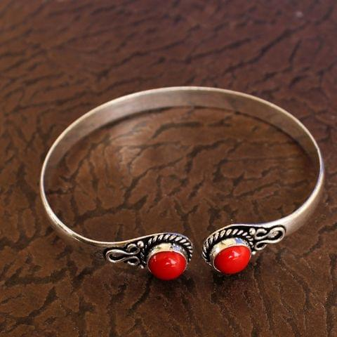 German Silver Adjustable Stone Bracelets Red