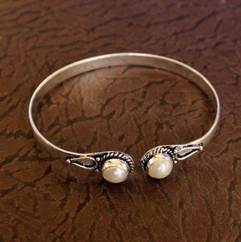 German Silver Adjustable Stone Bracelets White