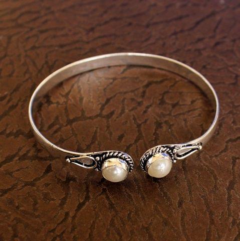 German Silver Adjustable Stone Bracelets White