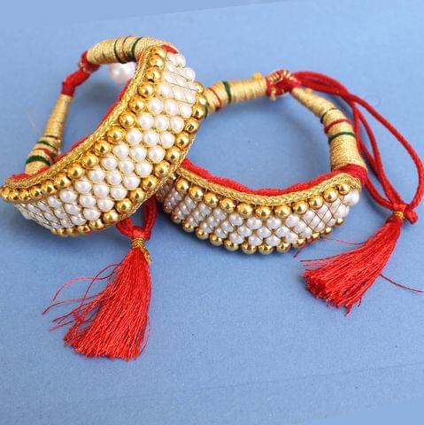 Gold Plated Beaded Bajuband