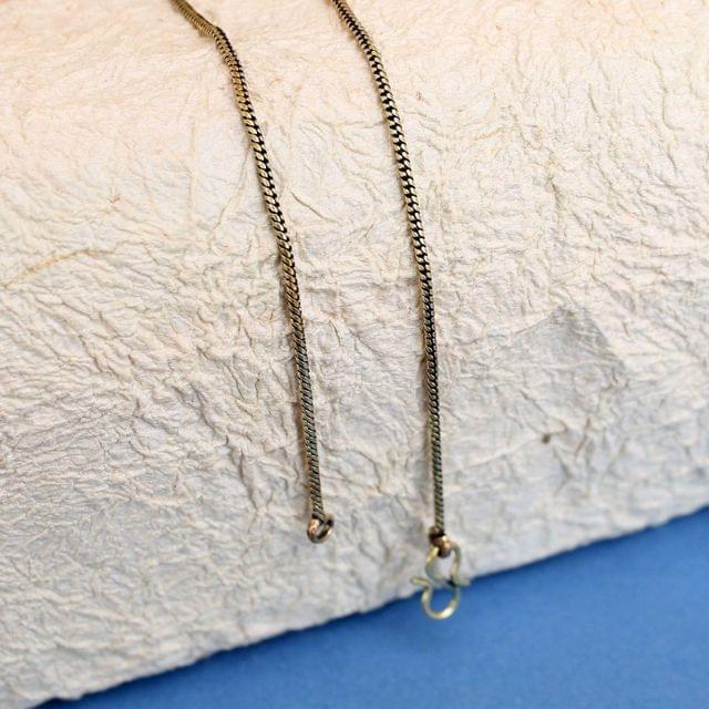 1 Pc German Silver Unisex Chain Golden