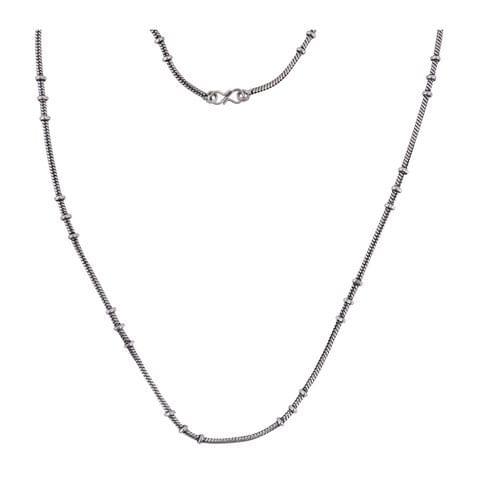 1 Pc German Silver Unisex Chain Silver