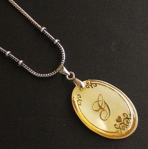 German Silver Chain With Alphabet 'G' Shell Pendants