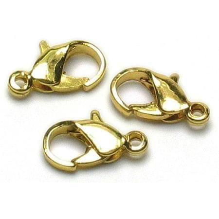25 Toggle Clasps Golden Finish 7x12mm