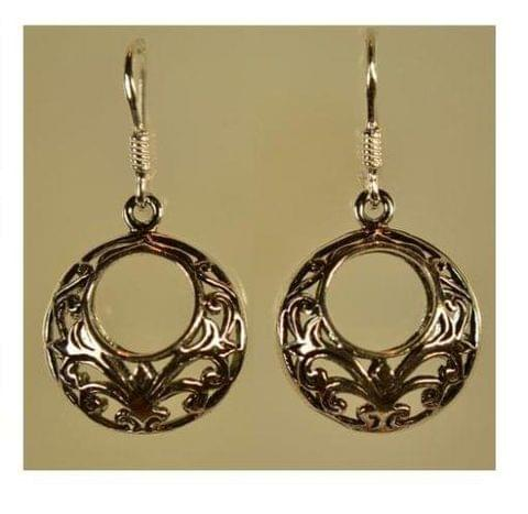 Sterling Silver Round Filigree Earring