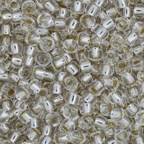 Preciosa Seed Beads Silver Line White 78102 (6`0)