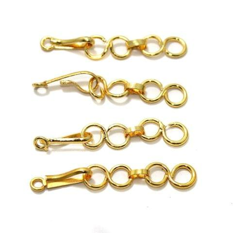20 Pcs German Silver 1 Inch Adjuster Chains Golden