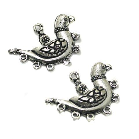 10 Pcs German Silver 39x29mm Earring Components