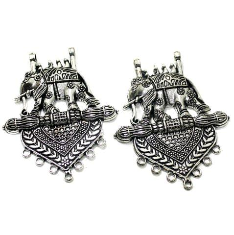 2 Pcs German Silver 73x58mm Pendants