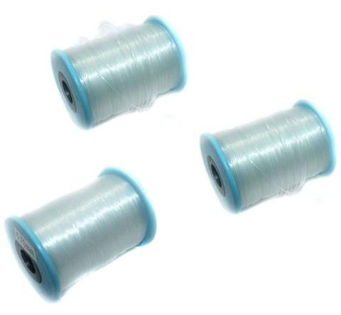Nylon Thread 500 Mtrs Spool Combo of 3 Pcs (1mm, 0.80mm, 0.70mm)