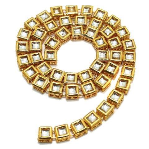 50 Pcs Golden Kundan Kadi Squar Shape