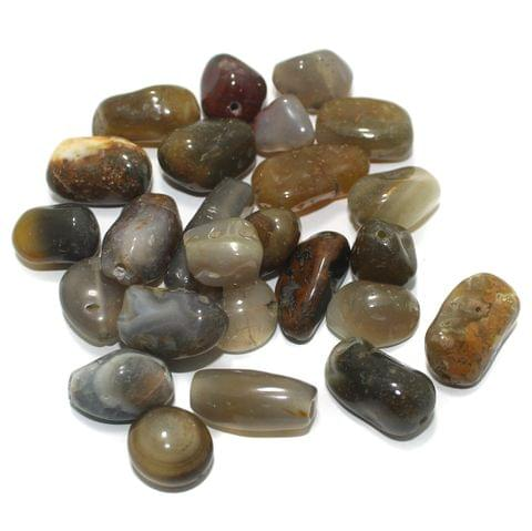 100 Stone Beads Assorted Size / Shape 13x20mm