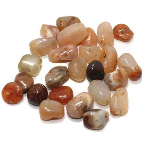 100 Stone Beads Assorted Size / Shape 13x22mm