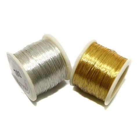 46+ Mtr Zari Thread Combo Golden & Silver