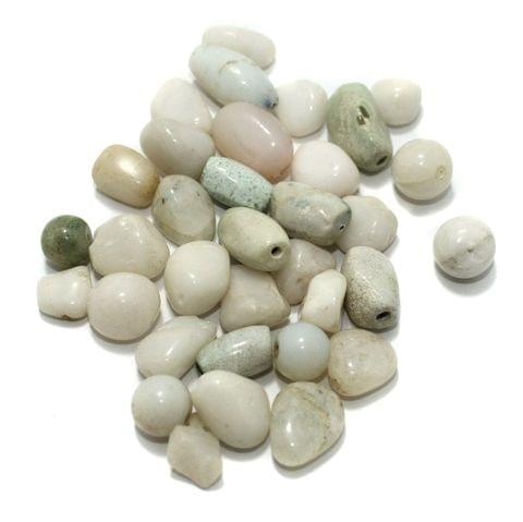 100 Stone Beads Assorted Size / Shape 9-17mm