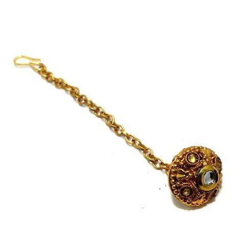 1 Pc Golden Rajasthani Bore Maang Tikka