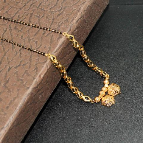 Black Chain Gold Plated Mangalsutra For Women