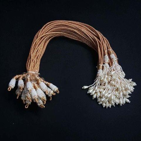1 Dozen, 12 Inch Double Layer Moti Necklace Dori (Sarafa)