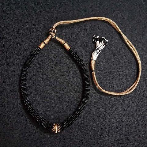 6 Pieces, Dark Blue Color Hasli Necklace Dories.
