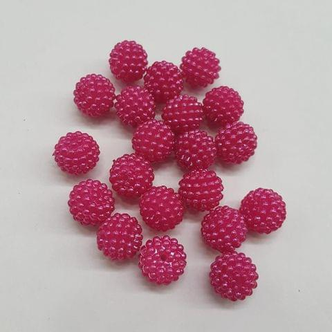 Pink, Acrylic Ball 10mm, 50 Pieces