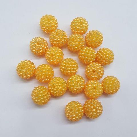 Golden, Acrylic Ball 10mm, 50 Pieces