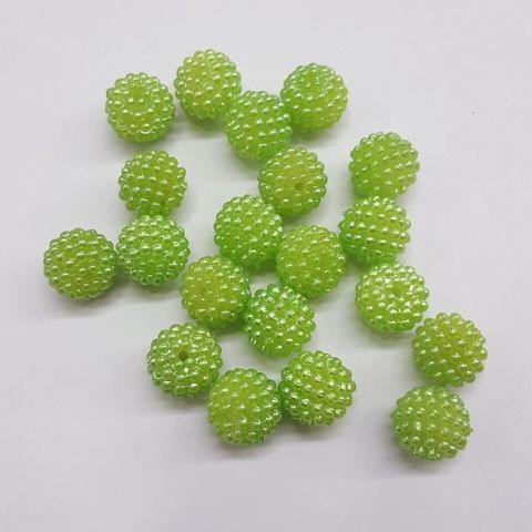 Green, Acrylic Ball 10mm, 50 Pieces