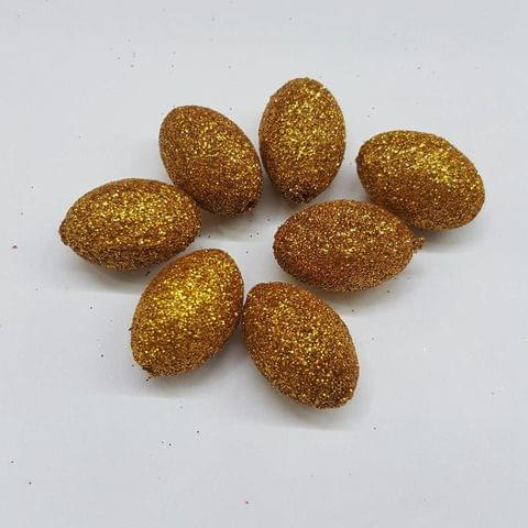 Golden, Zari Ball 14 x 21 mm, 50 Pieces