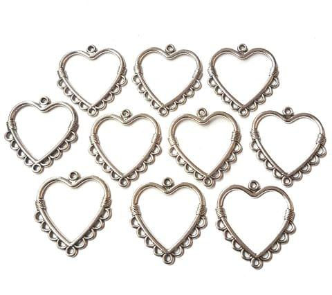 27 pcs, German Silver Charms, 31x27 mm