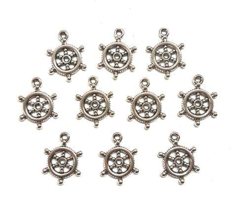43 pcs, German Silver Charms, 20x15 mm