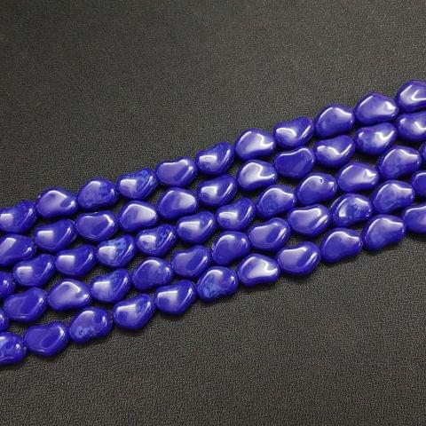 4 Lines, 11 mm Dark Blue Color Glass Beads For Jewellery Making/ 15 Inch/ 21+ Beads in Each String