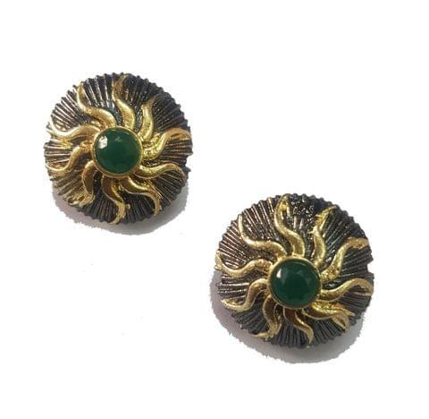 20 mm, Green Antique Piece, 1 pair