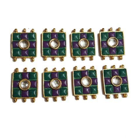 7 pcs Green,Purple Color Spacers 30x22mm