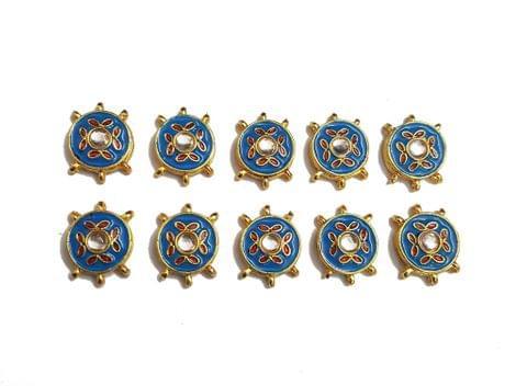 10 pcs Blue Color Round Shape Spacers 27x20mm
