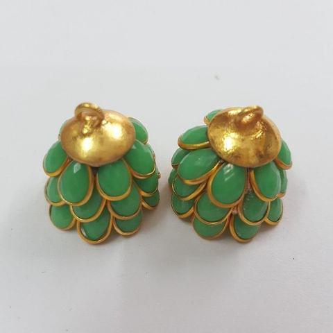 Parrot Green, Pacchi Jhumka 16mm
