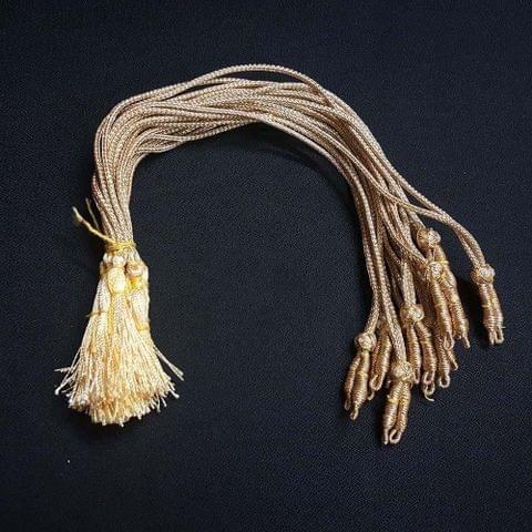 1 Dozen, 12 Inch Golden Colour Necklace Dori (Sarafa)