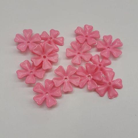 Pink, Acrylic Flower 11mm, 100 pcs