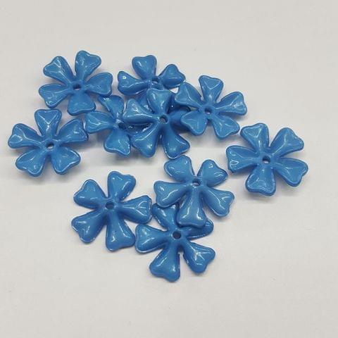 Blue, Acrylic Flower 11mm, 100 pcs