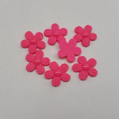 Pink, Acrylic Flower 12mm, 100 pcs