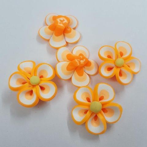 Peach, Rubber Flowers 26mm