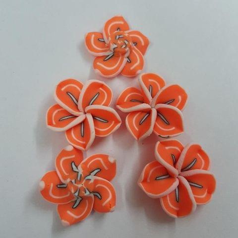 Orange, Rubber Flowers 20mm