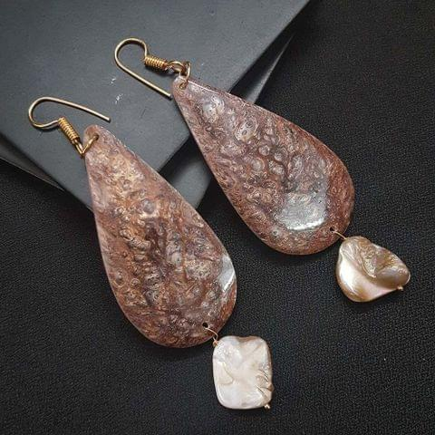 Drop Style Shell Earrings For Girls / Women