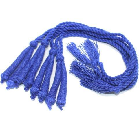 4 Pcs Thread Necklace Dori Blue 15 inch
