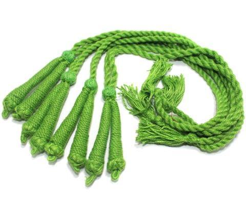 4 Pcs Thread Necklace Dori Parrot Green 15 inch