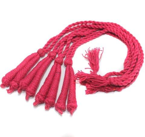 4 Pcs Thread Necklace Dori Hot Pink 15 inch