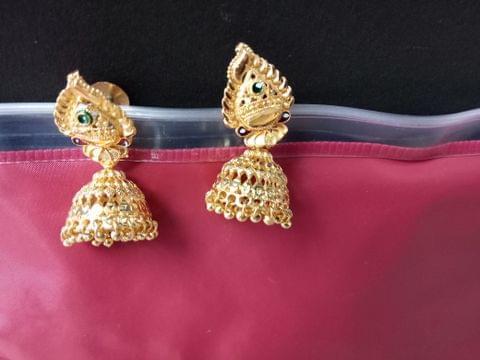 Combo 5 Gold Tone Earrings Rings Jhumki